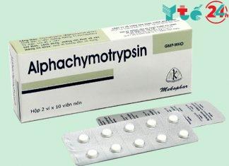 Alphachymotrypsin 4,2mg - chống viêm, giảm phù nề
