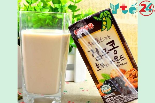Sữa óc chó hạnh nhân đậu đen Hàn Quốc review