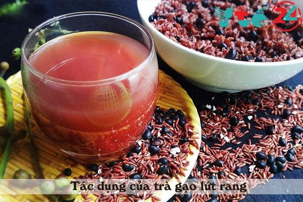 Tác dụng của trà gạo lứt rang