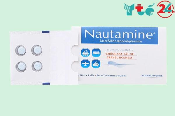 Thuốc say xe Nautamine giá bao nhiêu?
