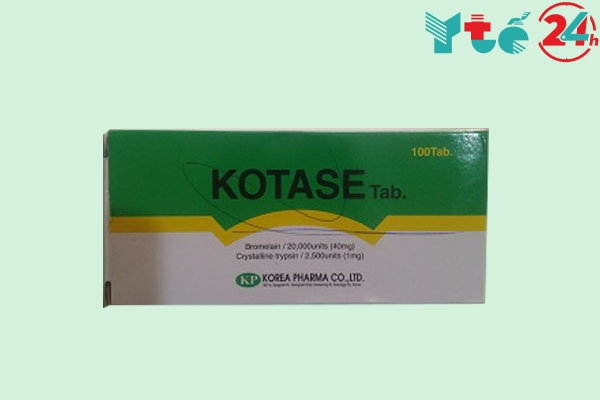 Chế phẩm của Kotase tablet 40mg