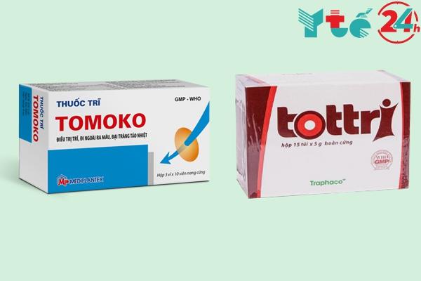 Thuốc trĩ Tomoko hay tottri tốt hơn?