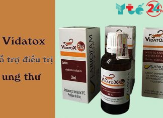 Thực phẩm chức năng Vidatox hỗ trợ điều trị ung thư