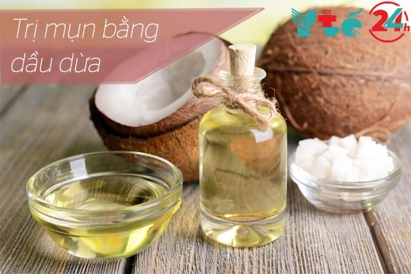 Dầu dừa cũng là một phương pháp để trị mụn