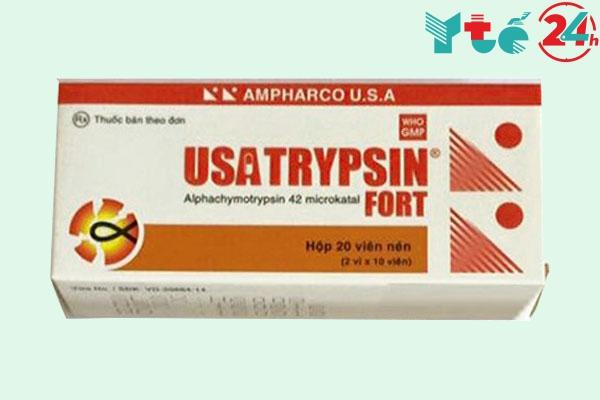 Usatrypsin là thuốc gì?