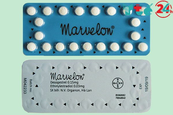 Cách uống thuốc tránh thai Marvelon theo mũi tên
