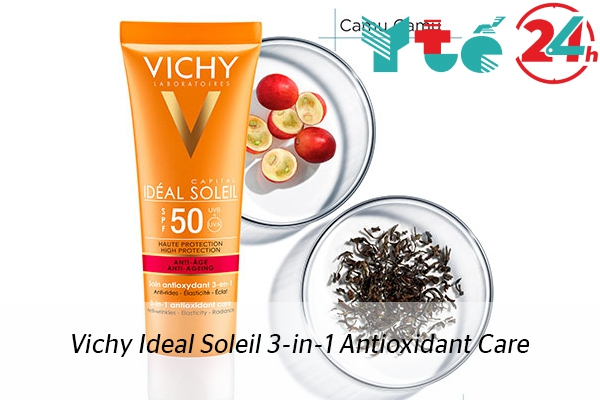 Kem chống nắng Vichy Ideal Soleil 3-in-1 Antioxidant Care