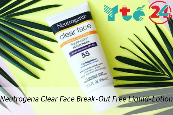 Kem chống nắng Neutrogena Clear Face Break-Out Free Liquid-Lotion