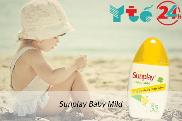 Kem chống nắng dạng sữa Sunplay Baby Mild