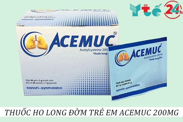 Thuốc ho long đờm cho trẻ em Acemuc