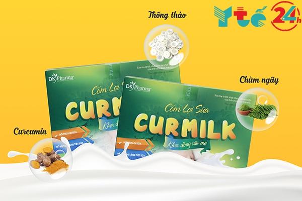 Cốm lợi sữa Curmilk có 3 thành phần thảo dược chính