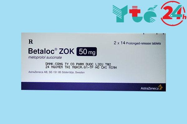 Tương tác khi sử dụng thuốc Betaloc zok