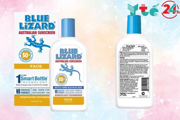 Kem chống nắng Blue Lizard For Face dành riêng cho mặt