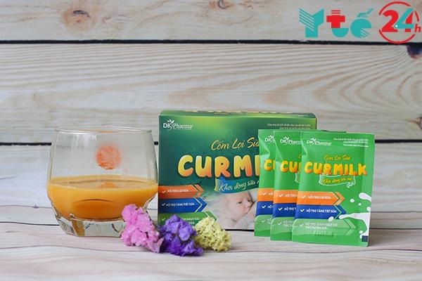 Cốm lợi sữa Curmilk có vị ngọt, mát, dễ uống
