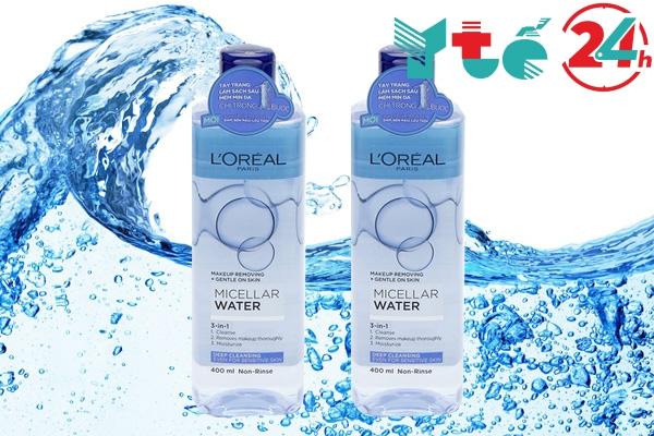 Nước tẩy trang Loreal Paris Micellar Water 3 in 1 Deep Cleansing