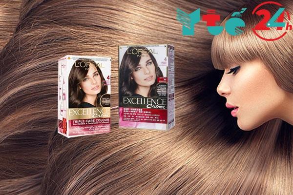 Bảng màu thuốc nhuộm tóc phủ bạc L'Oreal Excellence Creme