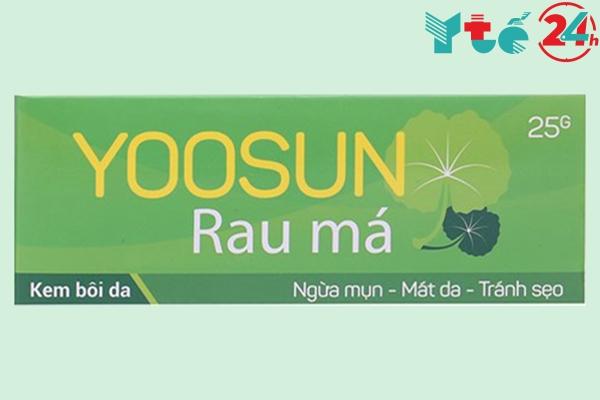 Mặt trước hộp Yoosun rau má