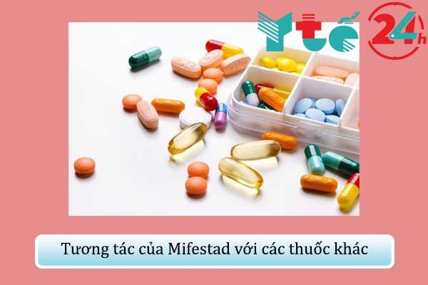 Tương tác của Mifestad với các thuốc khác