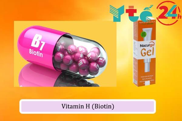 Vitamin H (Biotin) trong Nacurgo Gel