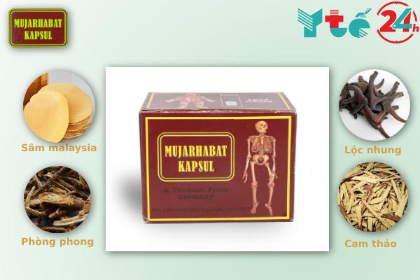 Thành phần của Mujarhabat Kapsul hoàn toàn từ thảo dược tự nhiên