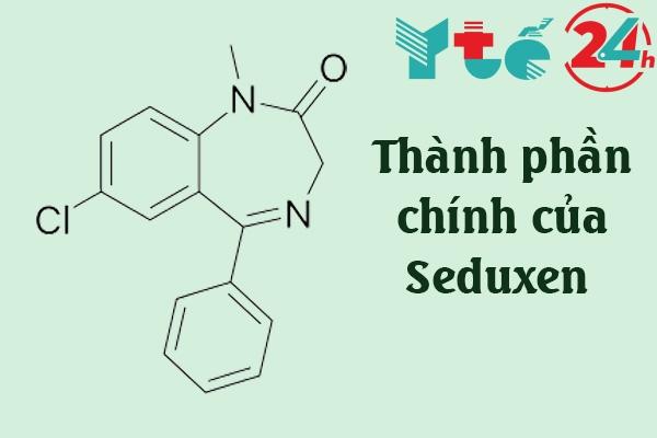 Thành phần chính của thuốc ngủ Seduxen là Diazepam với hàm lượng 5mg
