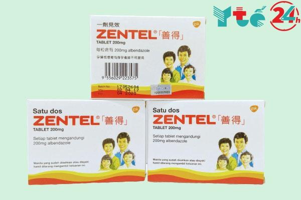 Thuốc tẩy giun Zentel 200mg