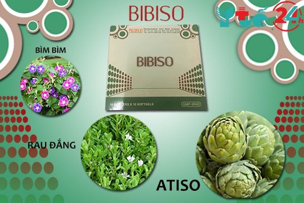 Các thành phần chính có trong một viên thuốc Bibiso