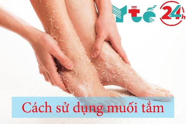 Cách sử dụng muối tắm
