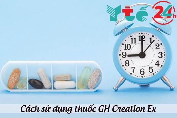 Cách sử dụng thuốc tăng chiều cao GH Creation Ex