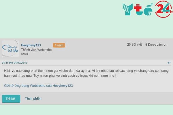 Các chị em bàn luận khi chồng thích bú vùng kín trên Webtretho