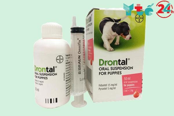 Thuốc tẩy giun cho chó Drontal
