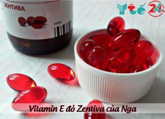 Vitamin E đỏ Zentiva của Nga - sản phẩm hỗ trợ cải thiện sắc đẹp