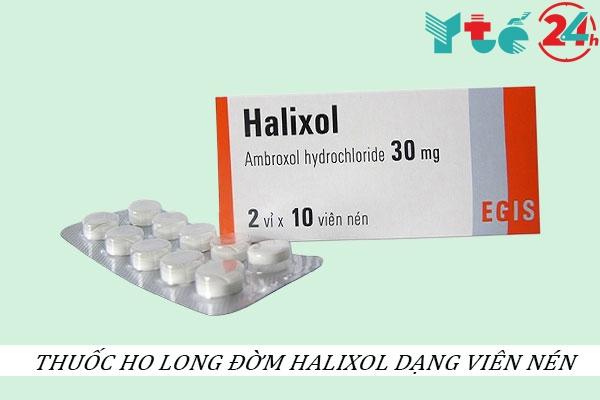 Thuốc ho long đờm Halixol dạng viên nén