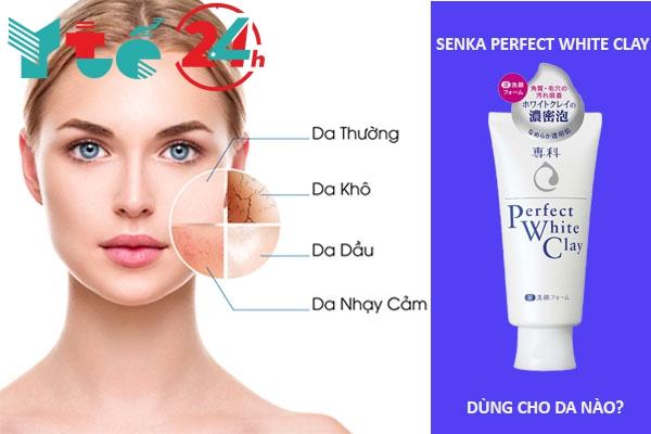 Senka Perfect White Clay dùng cho da gì?