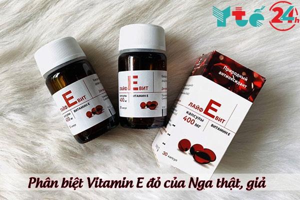 Phân biệt Vitamin E đỏ của Nga thật, giả