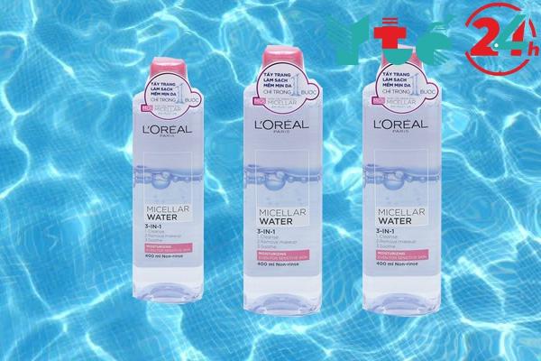 Nước tẩy trang Loreal Paris Micellar Water 3 in 1 Moisturizing