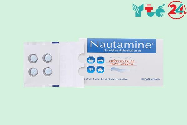Thuốc chống say tàu xe Nautamine vỉ 4 viên