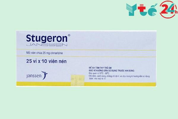 Thuốc chống say tàu xe Stugeron 25mg