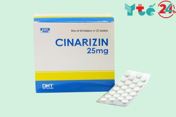 Thuốc chống say xe Cinarizin 25mg
