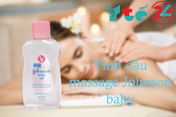 Tinh dầu massage Johnson baby