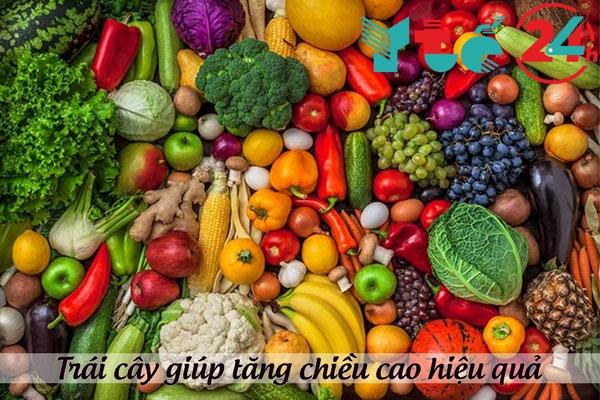 Trái cây và rau củ giúp tăng chiều cao hiệu quả