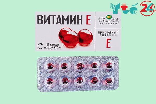 Thành phần Vitamin E đỏ 270mg dạng vỉ