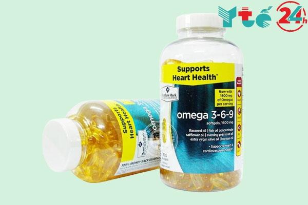 Viên uống dầu cá Omega 3 6 9 Supports Heart