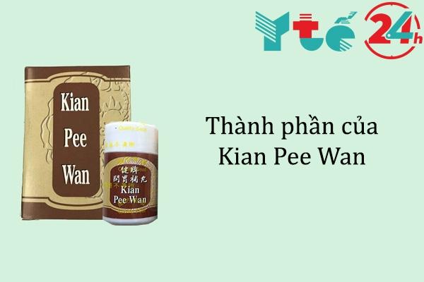 Thành phần của Kian Pee Wan