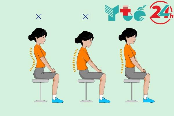 Ngồi đúng tư thế để phòng tránh thoát vị đĩa đệm