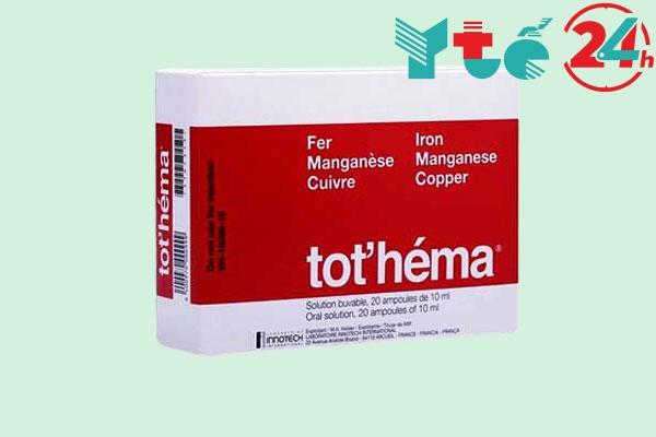 Thuốc bổ máu dạng ống Tot'héma của Pháp