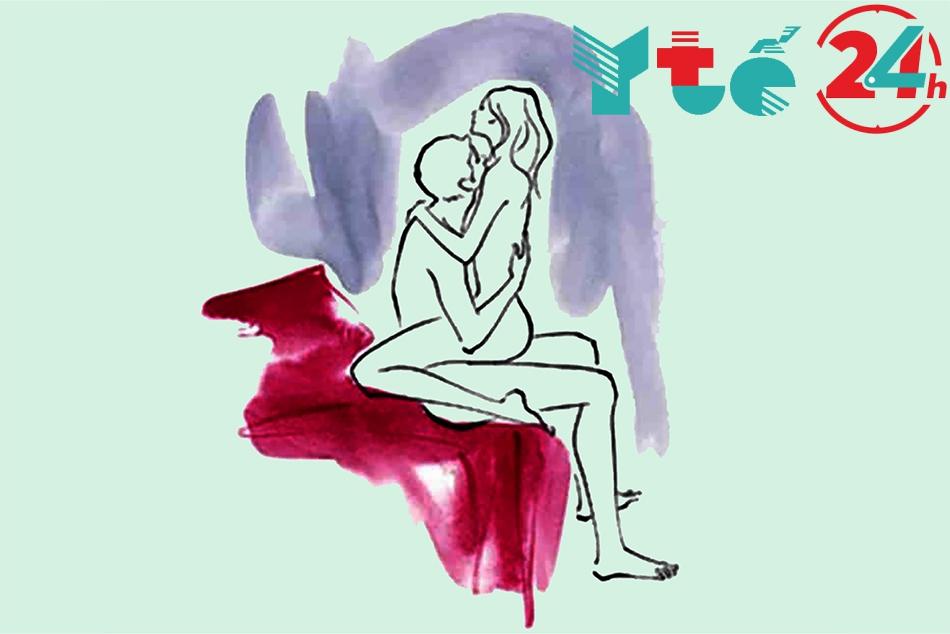 Tư thế 8: Ngồi đối mặt – Người nữ đóng vai trò chủ động
