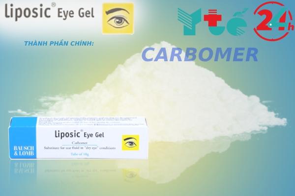 Carbomer là hoạt chất chính của Liposic Eye Gel