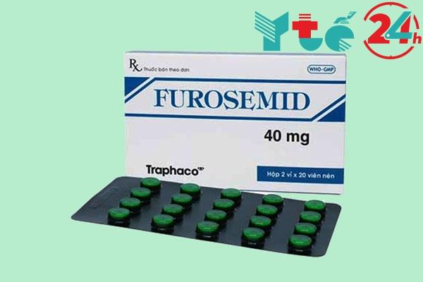 Thuốc lợi tiểu Furosemid dạng viên nén 40mg