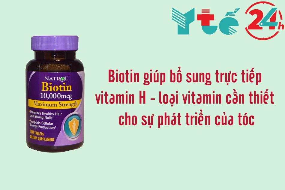 Thuốc mọc tóc Biotin